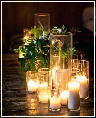 Candlesticks for Rustic weddings, partiers and social gatherings in Wisconsin